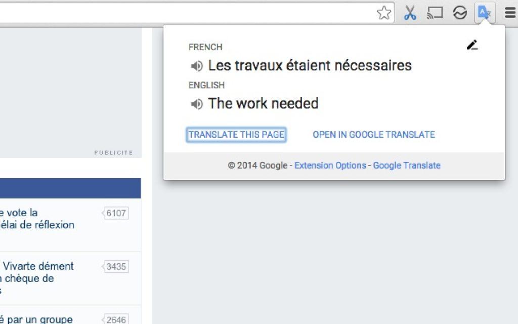 google çeviri eklentisi