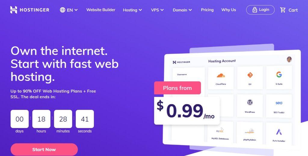 en iyi hosting firması hostinger