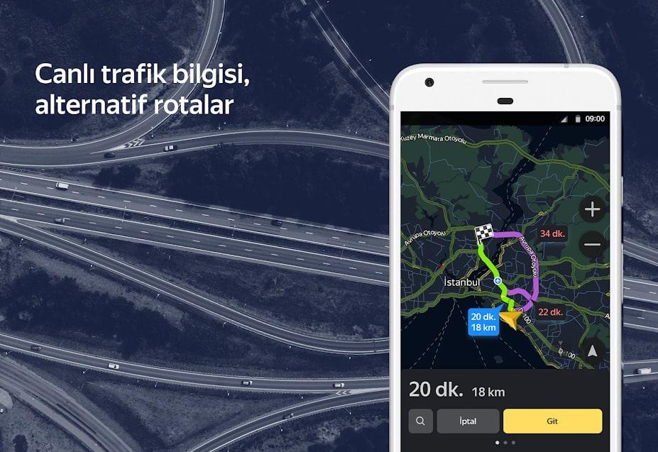 yandex navigasyon çevrimdışı kullanma