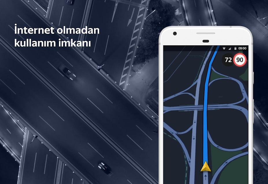 yandex navigasyon internetsiz kullanma