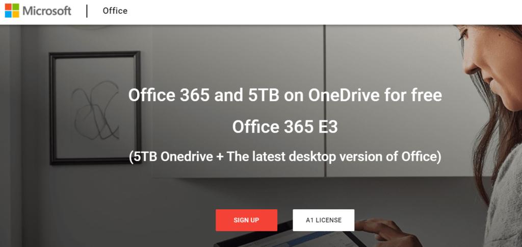 5 TB OneDrive + Office 365 E3 Ücretsiz Hesap Oluşturmak